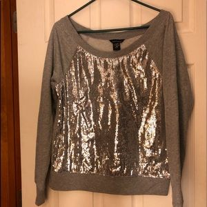 MODA International Sequin sweatshirt size M